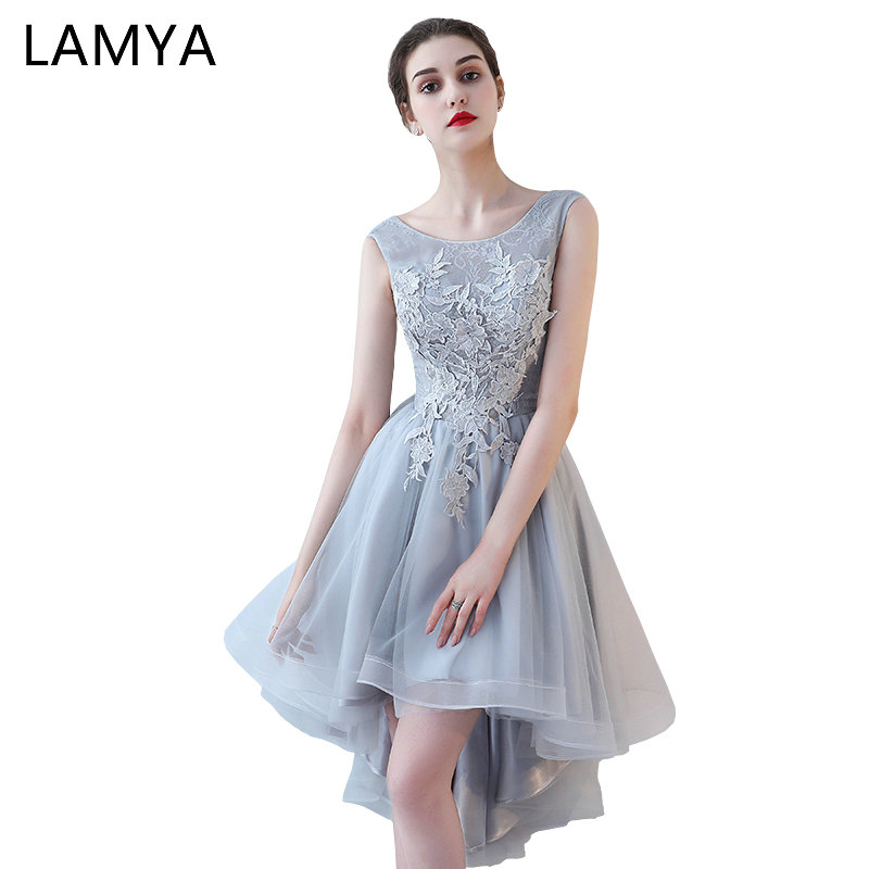 LAMYA Vintage High Låg Prom Klänningar Kvinnor Elegant Kväll Fest - Särskilda tillfällen klänningar