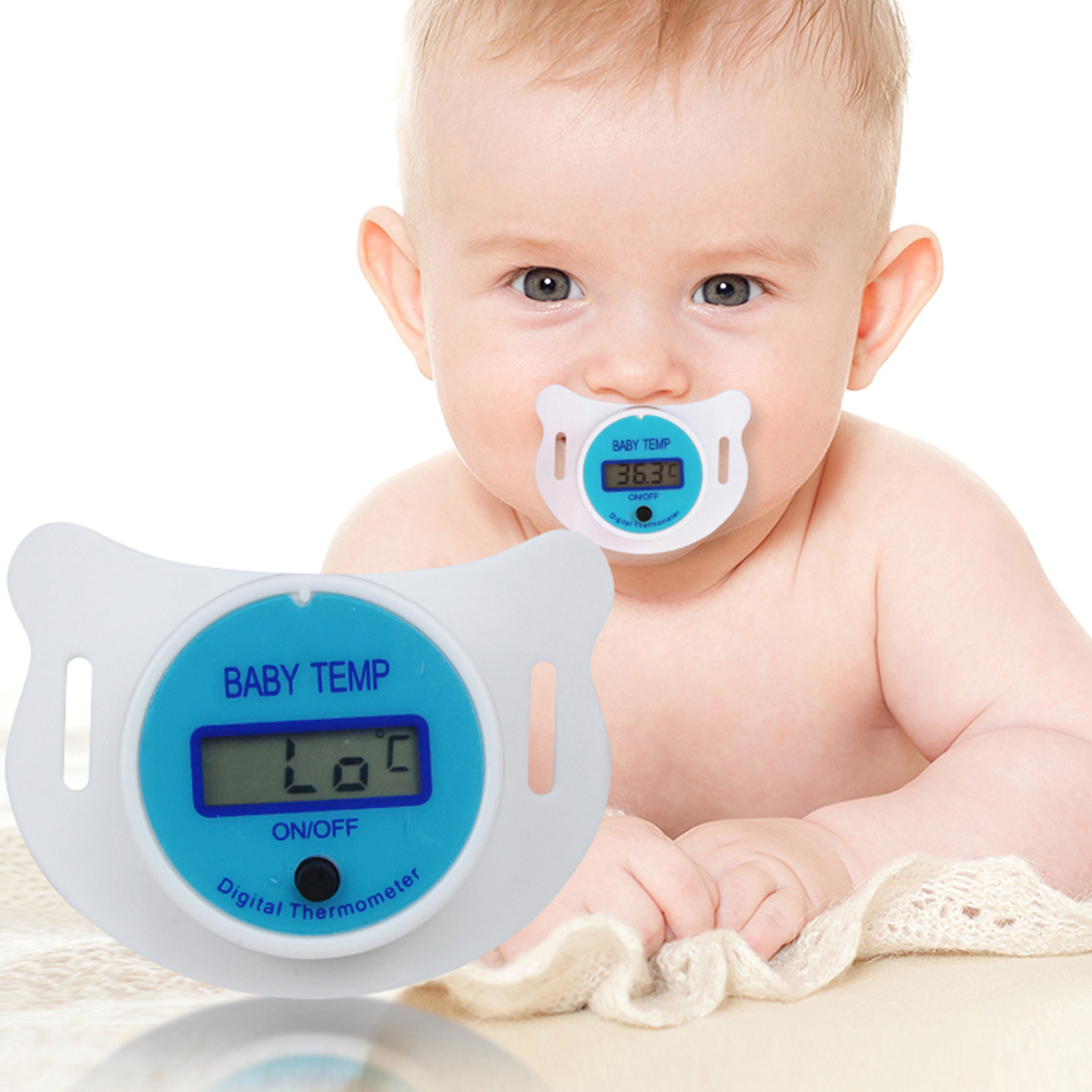 Baby Nipple Thermometer Silicone Pacifier Lcd Digital Children's Thermometer Health Safety Care Thermometer For Children
