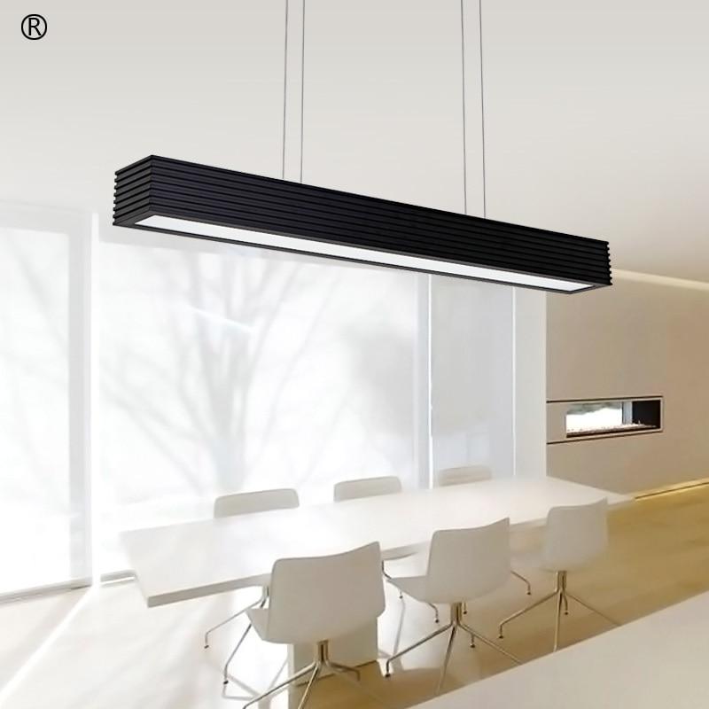 Office Led Pendant Lamp Rectangular Creative Modern Dining