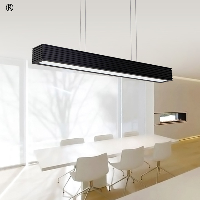 Office Led Pendant Lamp Rectangular Creative Modern Dining