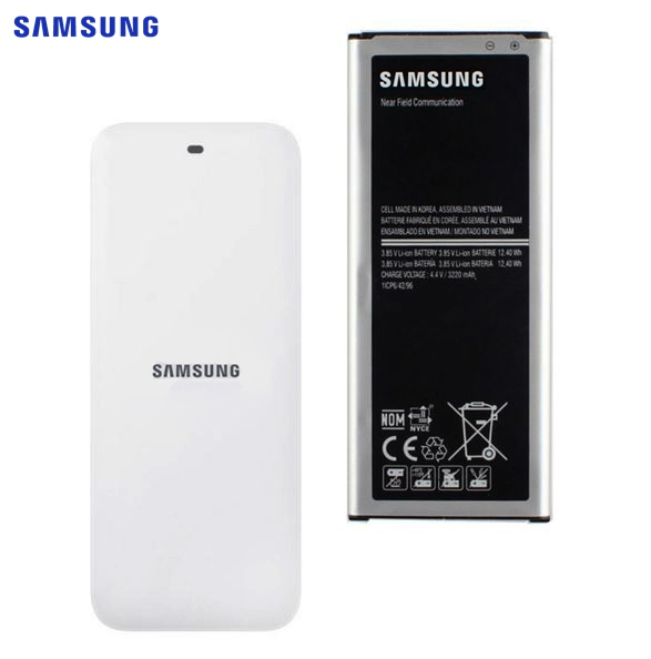 SAMSUNG Bateria Original EB-BN910BBE EB-BN910BBK Para Samsung GALAXY NOTE4 N910a N910u N910F N910H N910V N910C NOTA 4 3220mAh NFC