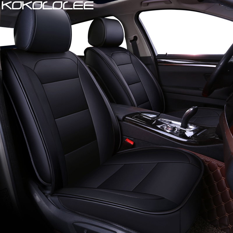 KOKOLOLEE pu leather car seat cover for BMW F10 F11 F15 F16 F20 F25 F30 F34 E60 E70 E90 1 3 5 7 GT X1 X3 X4 X5 X6 Z4 Car styling 3d fully enclosed short plush seat cover winter seat mats car styling for bmw f10 f11 f15 f16 f20 f25 f30 f34 e60 e70 e90