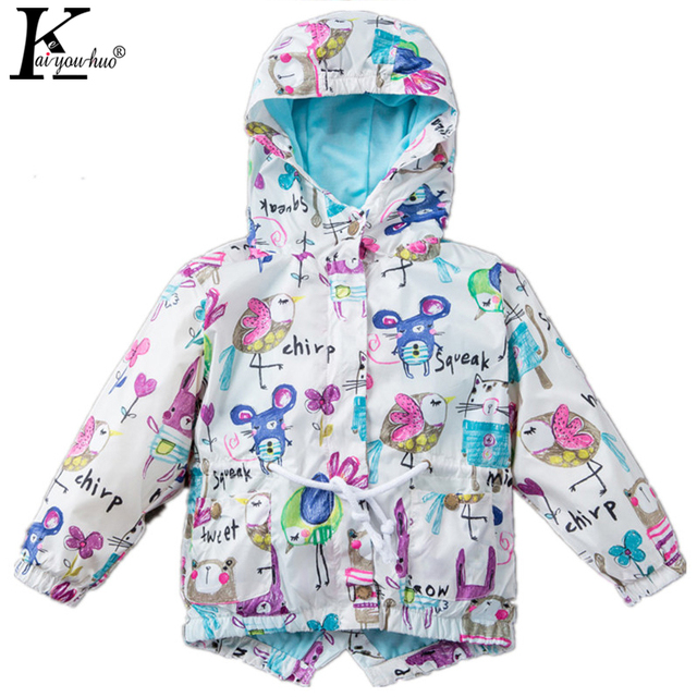 KEAIYOUHUO 2017 Spring Autumn Children Clothing Outwear Hooded Jackets For Girls Baby Boys Coat Fashion Raincoat Kids Costume