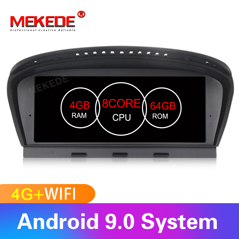MEKEDE MSM8953 8 núcleo Android 9.0 4 + 64G 5 4G LTE jogador Car Multimedia para BMW série e60 E61 E62 E63 3 series E90 E91 CCC/CIC