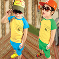 2016 New Hot Sale Summer Kids Boys T Shirt Shorts Set Children Short Sleeve Shirt Clothing Set Kids Boy Sport Suit Kids Clothes