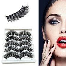 купить!  5 пара роскошный макияж 3D норковые накладные ресницы пушистые полосы ручной наращивание ресниц глаз