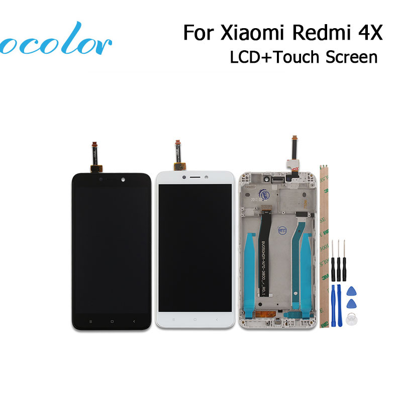 Ocolor 5inch For Xiaomi Redmi 4X LCD Display And Touch Screen With Frame Screen Digitizer Assembly With Tools+Adhesive