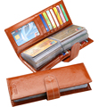Large capacity 56 card position brand oil Genuine leather card holder Fashion creditcard wallet New style card case
