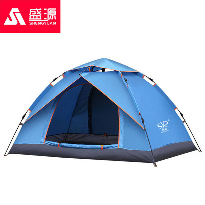 Two Persons Automatic Camping Tent Family Outdoor Travel Camping Tent Double Layer Shade Windproof Waterproof Beach