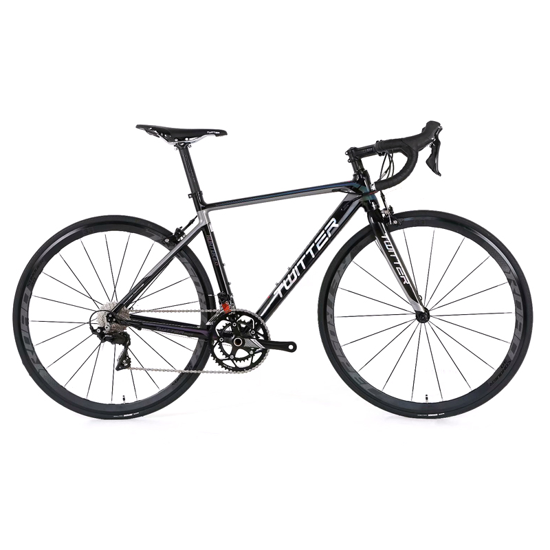 TWITTER New 700C Road Bicycle bike Aluminum Alloy 18/20/22 Speed Road Bikes for R3000 R7000 Components Carbon Forks