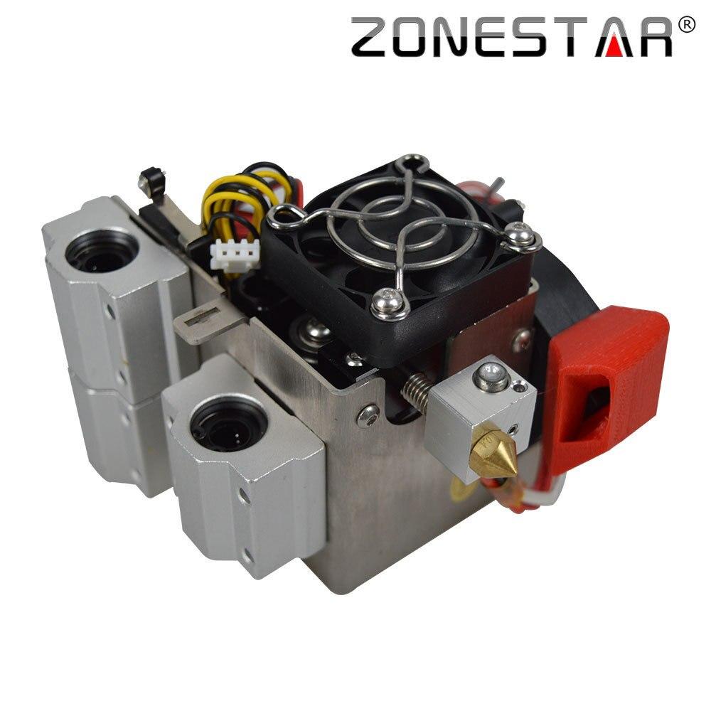 ZONESTAR 3D Printer Extruder MK8 Extruder P802 Serial Nozzle 0.4mm Feeder Filament Diameter 1.75mm geeetech fdm me creator mini 3d printer mk8 extruder black 1 75mm filament 0 3mm nozzle