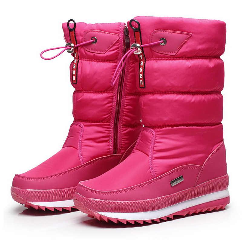 Vrouwen snowboots platform winter laarzen dikke pluche waterdichte antislip laarzen mode vrouwen winter schoenen warm bont botas mujer