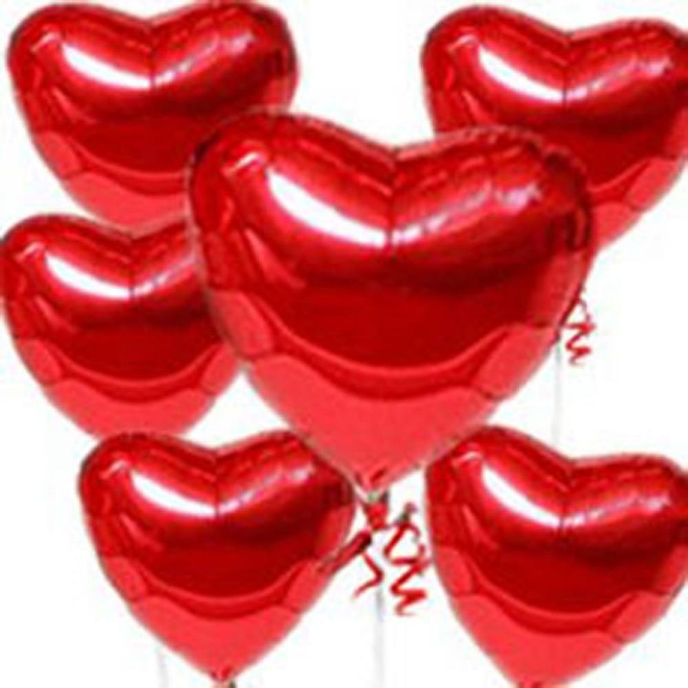 [플라이 이글] 무료 배송 10 개 / 로트 호일 풍선, 18 인치 풍선, 심장 풍선