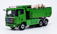 1:36 Diecast Model for Foton Daimler Auman GTL Slag Truck Alloy Toy Car Miniature Collection Gifts