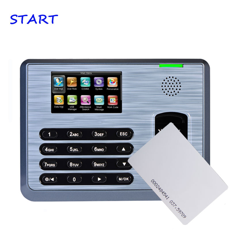 TX628 Linux System Biometric Fingerprint Time Attendance Employee Attendance Fingerprint Time Clock With 125KHZ RFID Card Reader
