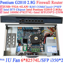 Cheap router server router firewall with 6 1000M 82574L Gigabit Nics 2 i350 SFP ports Intel