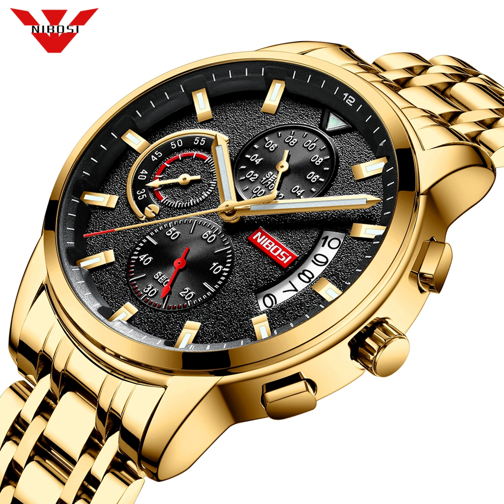 Mężczyźni zegarek NIBOSI Relogio Masculino męskie zegarki Top marka luksusowe wodoodporny automatyczny zegarek Quartz z datą mężczyzna zegar Reloj Hombre