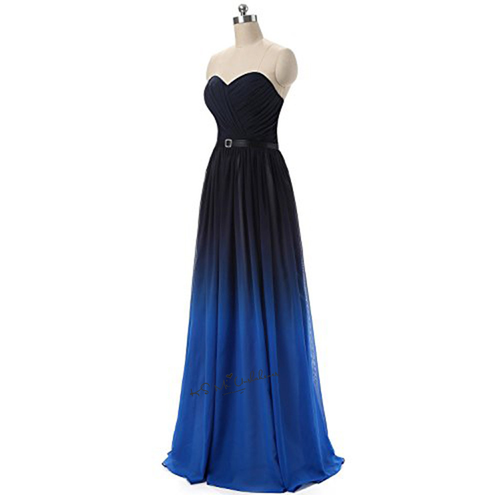 Black blue cheap bridesmaid dresses 2018 floor length plus for Plus size wedding party dresses