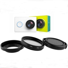 Outdoor Action Sport Camera Set 37 52 58mm CPL Filter +Adapter+ Lens Cap for Gopro Hero3 Xiaoyi
