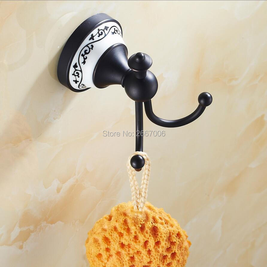 Free shipping classic hotel wall mounted euro black plated - Wall mounted ceramic bathroom accessories ...