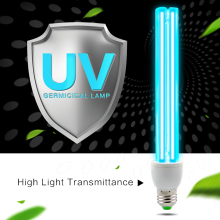 E27 UVC Ultraviolet UV Light Tube Bulb 15W 20W Disinfection Lamp Ozone Sterilization Mites Lights Germicidal Lamp Bulb AC220V