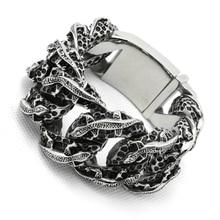 30MM 275g Riesige Schwere Herren Jungen 316L Edelstahl Coole PUNK Gothic Lizard Links Armband Neueste Design