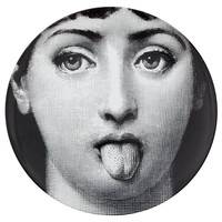 12 Inch Fornasetti Plate Home Decor Porcelain Artwork Wall Plate Fornasetti Decorative Wall Dishes white black Fornasetti Plate