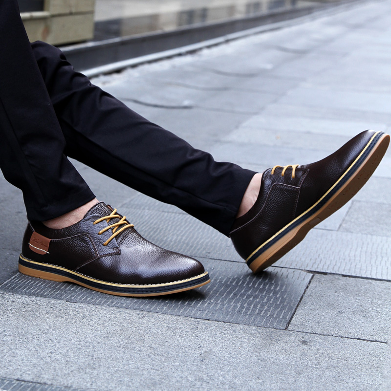 HTB1TAb3c3aH3KVjSZFjq6AFWpXaU 2019 New Men Oxford Genuine Leather Dress Shoes Brogue Lace Up Flats Male Casual Shoes Footwear Loafers Men Big Size 39-48