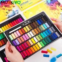أقلام تلوين صغيرة من مونجيو بألوان الباستيل الناعمة 24 32 48 64 ألوان الطباشير الملون للفنان الطلابي أقلام رسم على الجدران أدوات مكتبية مدرسية لوازم فنية