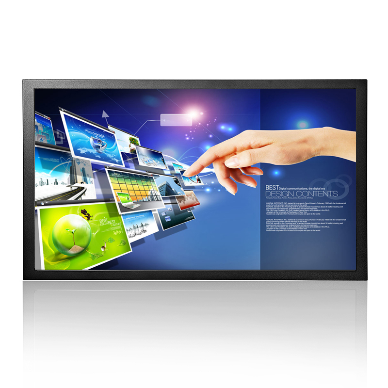 Best resolution 1920*1080 17.3 inch wide touch screen monitor with 4 wire resistive touch screen with AV/BNC/VGA/HDMI/USB