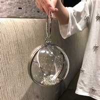 2018 new Women Handbags Female chain bag Circle One Shoulder Mini Messenger Bag Round bag Purse Cross Body Bolsa Xmas gift
