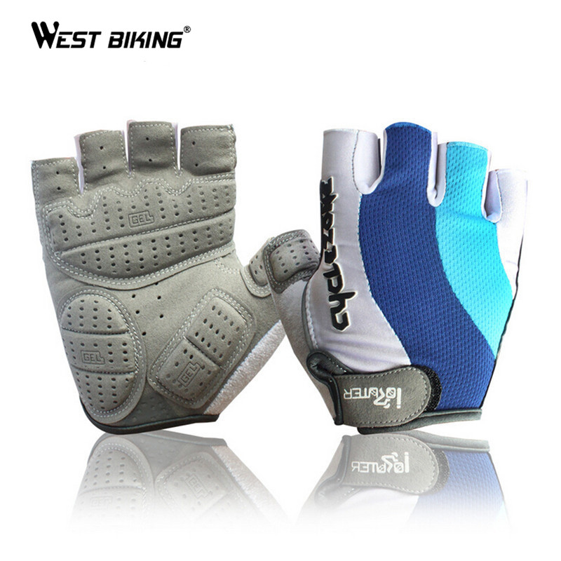 Half Finger font b Cycling b font font b Gloves b font Antiskid 3D Gel Padded