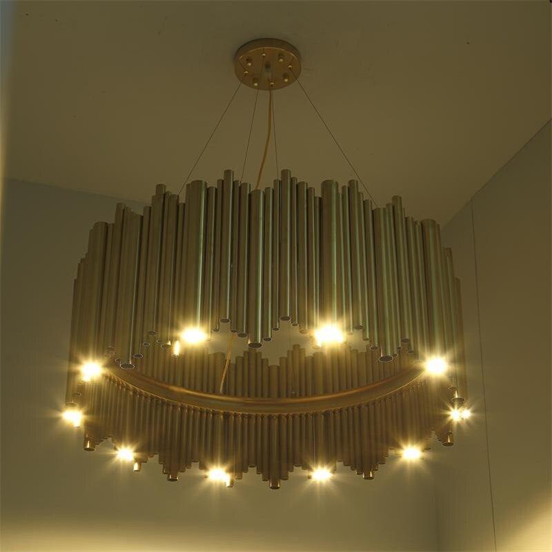 da liga de alumínio suspensão luminária lâmpada projeto moda