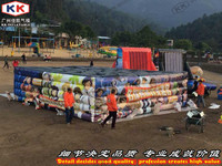 Giant Inflatable Tunnel Maze Game Outdoor Inflatable Maze Field For Chilren