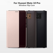 Smart PU Leather Flip Cover For Huawei Mate 10 Pro Mate 9 Pro Case Smart Window View Cover For Huawei Mate 9 Pro Mate 10 Case mooncase huawei ascend mate 7 чехол для view slim leather flip pouch bracket back cover hot pink