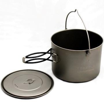 TOAKS Titanium Pot with Bail HandleTitanium Hung Pot Ultralight Camping Pot 1600ml  1.6L nz titanium pot set