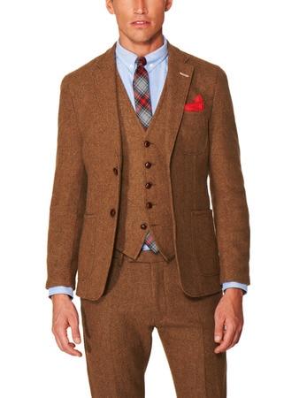 Popular Brown Grooms Suit-Buy Cheap Brown Grooms Suit lots from