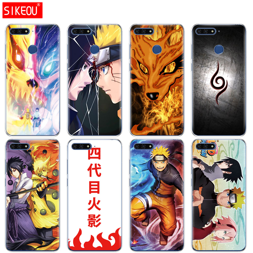 Силиконовый чехол для телефона для huawei <font><b>Honor</b></font> 7A PRO 7C Y5 Y6 Y7 Y9 2017 2018 премьер Наруто Саске Аниме Yondaime минато Namikaze