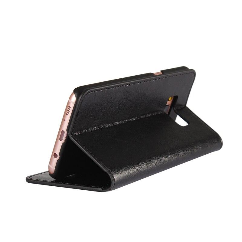 Äkta äkta läder plånbok väska Crazy Horse mönstrade - Reservdelar och tillbehör för mobiltelefoner - Foto 3