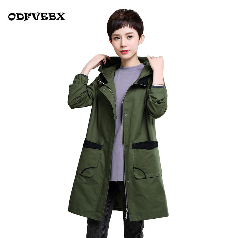 Spring new women trench coat plus Large size loose medium long section autumn fat MM middle-aged thin coat women ODFVEBX одежда больших размеров large size women 53214 mm 2015 200