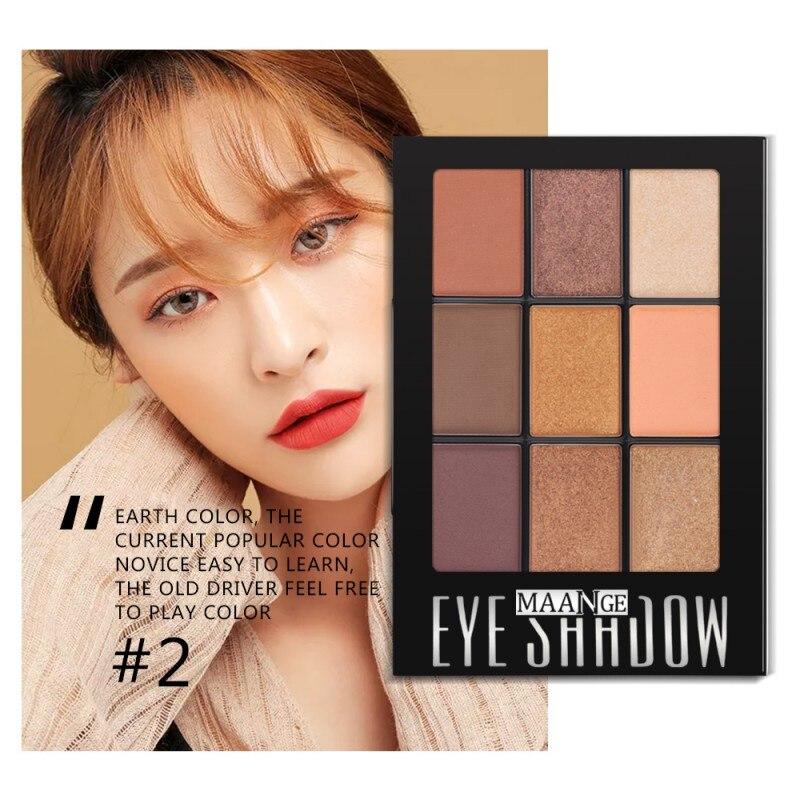 Maquillage Cosmétiques LongLasting Eye Palette Calendrier Mat Fard À Paupières 9 Couleur