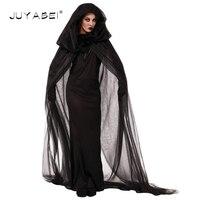 Women Halloween Cosplay Costume Medieval Renaissance Adult Witch Gothic Queen Of Vampire Black Fancy Cloak Dress