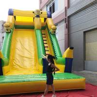 Giant Inflatable Minions Dry Slides Kids Indoor Dry Slides For Kids Climbing Games For Kids