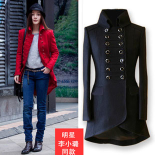 Online Shop 2016 new Li Xiaolu girls long wool coat and the wind ...