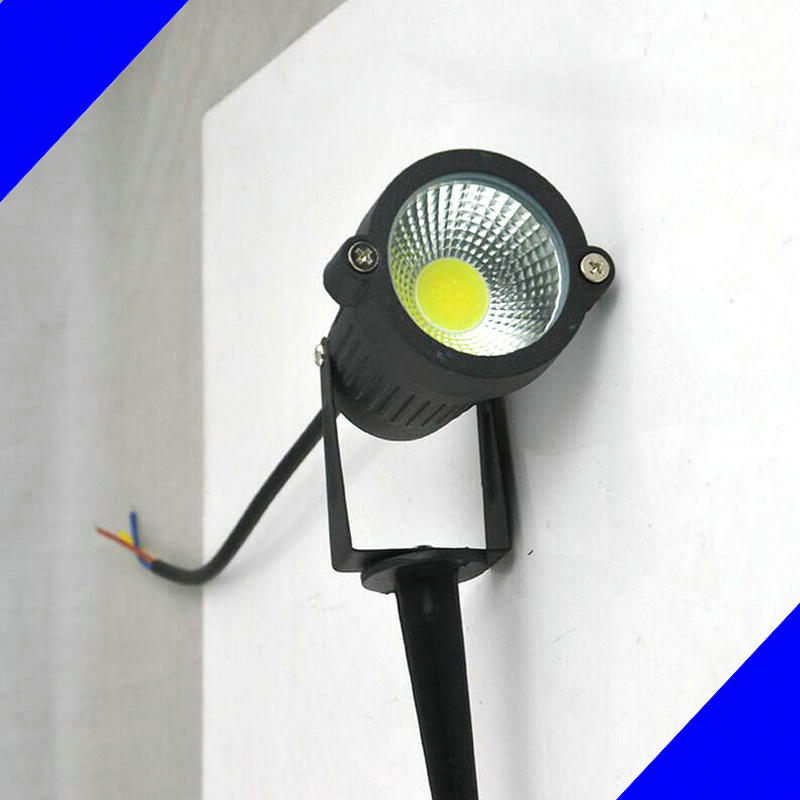 12V LED COB Lawn Lamps 7W IP65 Waterproof LED Flood Spot Light Bulb For Garden Pond Path Outdoor Lighting with Insert Needle Pin