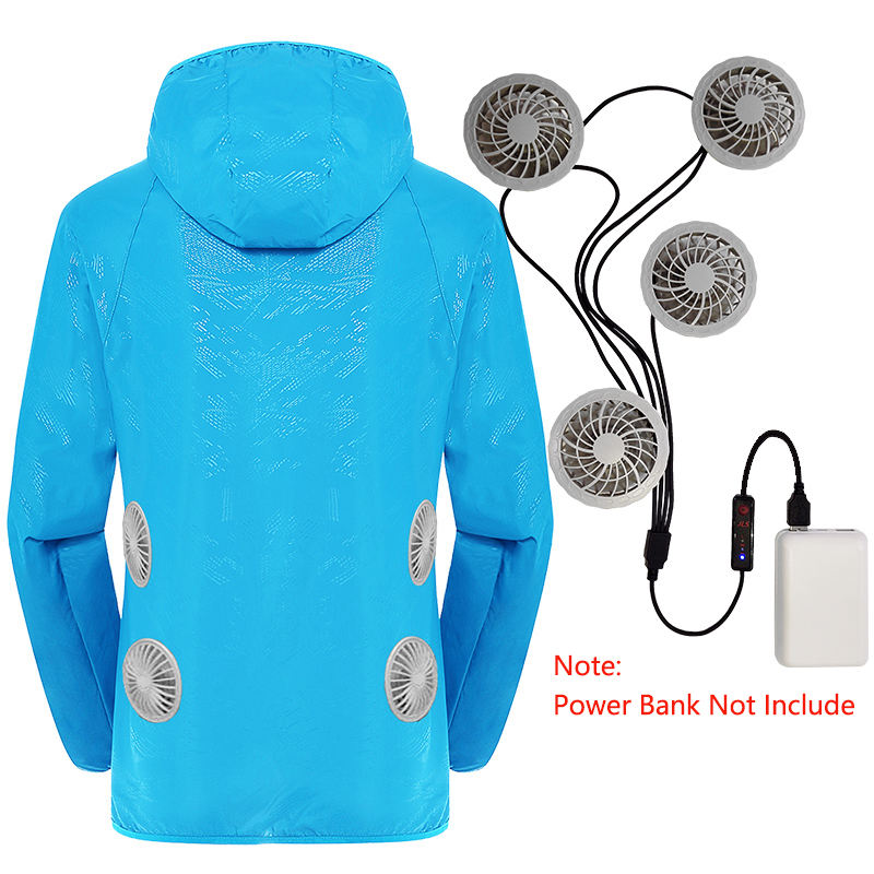 Wear Cooling-Fan Air-Conditioning-Jacket Uv-Protection Splash-Proof Summer With 4-Fans