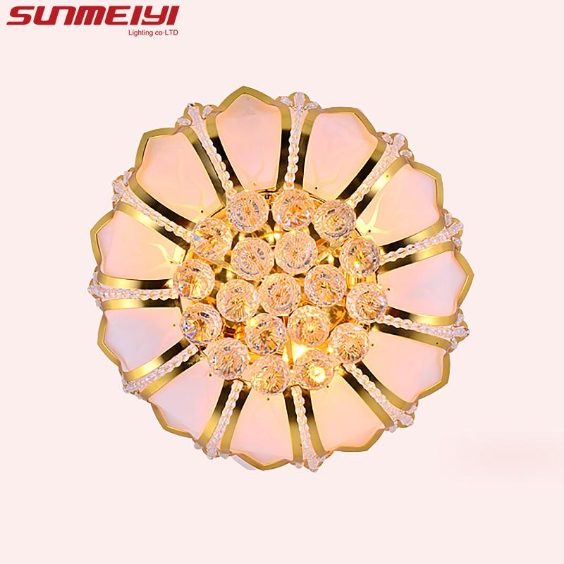 Lotus Flower Moderne Ceiling Light Med Glas Lampeskærm Guld Ceiling - Indendørs belysning - Foto 6