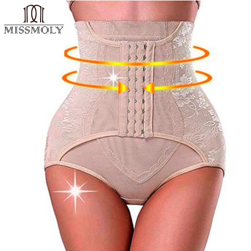 Miss Moly Tummy Control Culottes Serre-Taille Sous-Vêtements Invisible Butt Lifter Minceur Shapewear Femme Modélisation Ceinture Bodyshaper