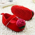 Baby kids Toddler Shoes sapato sapatos infantil bebe Spring Autumn Rose flower soft sole girl shoes