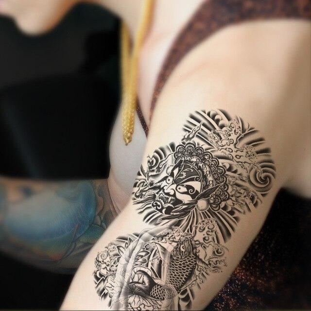 Flas Tatuaje Adhesivos Brazo Blanco Y Negro Tatuajes Temporales Sexy